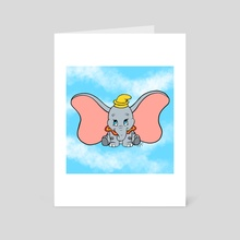 Flying Elephant - Art Card by Nayeli Benitez