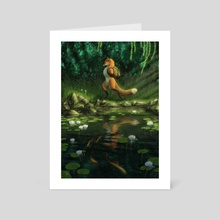 Little Fox's Little Adventure - Art Card by Kippycube