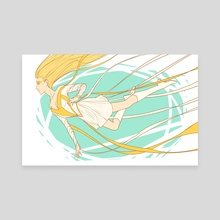 Golden Glider - Canvas by Cazel Rulloda