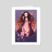 Nezuko - Art Card by Draskia (Maggie)
