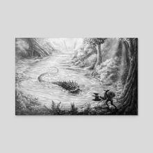 River Wyvern - Acrylic by Alex Campbell