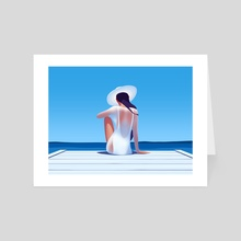 Catching the sun - Art Card by Ksenia Shokorova