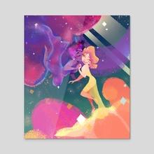 Space Lovers - Acrylic by Erin Bennett