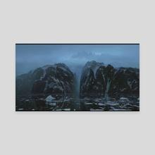 The Black Bay - Canvas by Tomáš Honz