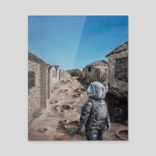 stranger in a strange land - Acrylic by Sophie Liu