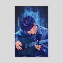 blue question mark - Canvas by inma moya