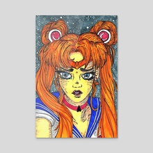 Sailor Moon - Acrylic by Shannon Mclanahan