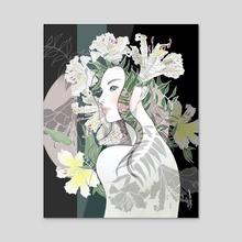Grace and Dignity - Acrylic by Akiko Fukuda