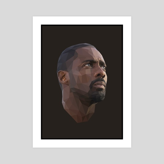 Idris Elba Low-Poly by Micah Denn