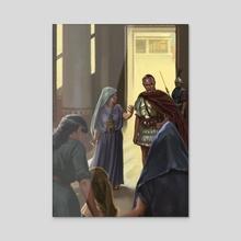Merita, Mandonius' Wife, Intercede with Scipio - Acrylic by Sandra Delgado