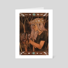 And I Still Can't Touch Your Name - Art Card by Nina Balvinskaya