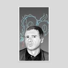 Deckard - Canvas by Alonso Guzmán Barone