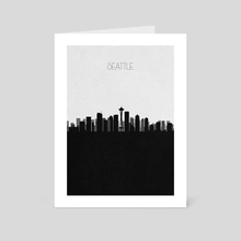 Seattle - Art Card by Deniz Akerman