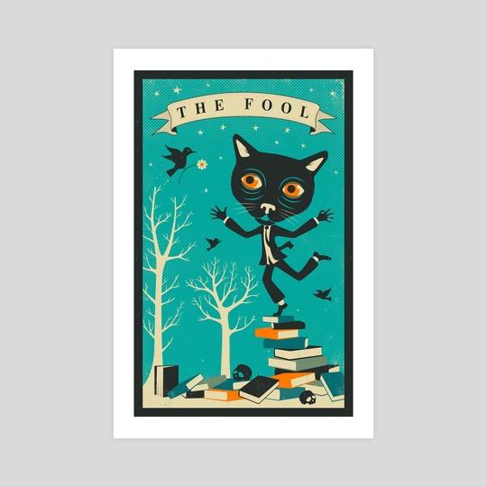 Tarot Card Cat - The Fool by Jazzberry Blue