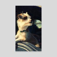 bark seat drivin' - Canvas by Edwin Escobar
