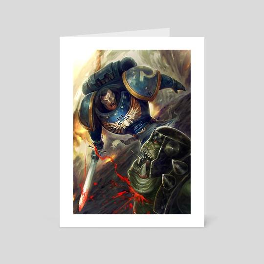 Space Marine vs Ork  by Victor Perez Corbella