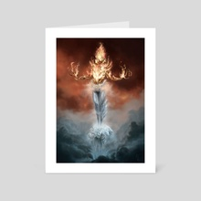 Fire & Ice - Art Card by Andrea Tentori Montalto