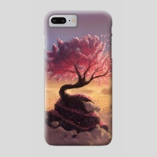 Pink Tree Hill - Phone Case by Maxime Chiasson Art