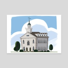 Kirtland Temple - Canvas by Matthew Eng