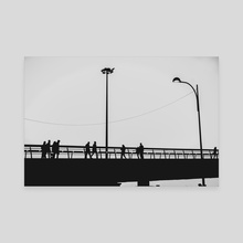 Bridge - Canvas by Luigi Veggetti