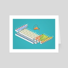 periodic table - Art Card by anil yanik