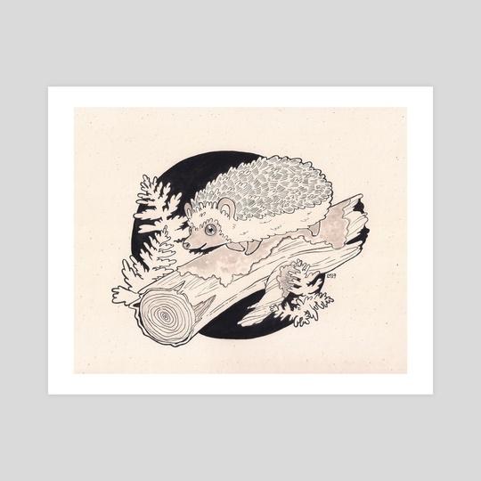 Ink Hedgehog by Leann Moffitt