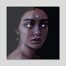 In The Dark - Acrylic by Saoirsia