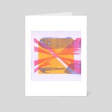 splotch [yellow] - Art Card by amanda herz