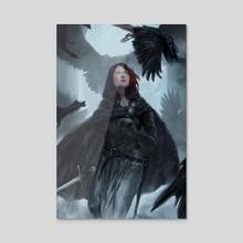 Nightingale - Acrylic by Thea Turner