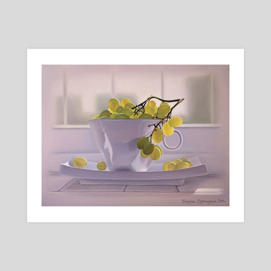 grapes in the cup by Katerina Bukuros