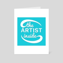 The Artist Inside Logo - Art Card by Ethan Vuilleumier