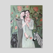 The Healer - Acrylic by Misty  Mawn