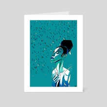 Rain - Art Card by Nashaat Conde