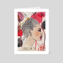 Aries  - Art Card by Rebecca Bradley