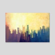 Cloud City - Acrylic by Cvetelina Yurukova