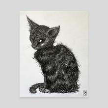 Black Cat #1 - Canvas by Victoria Dye