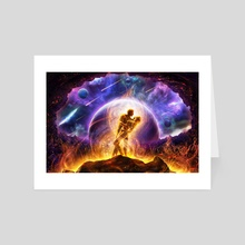 Twin Flames - Art Card by Louis Dyer