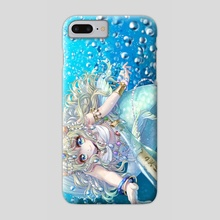Message Bottle and Mermaid - Phone Case by opera ame