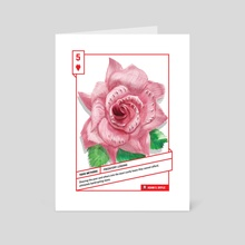 5 of Hearts - Art Card by 52 Shades of Greed