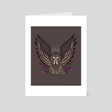 Familiar: Great Grey Owl - Art Card by Reimena Yee