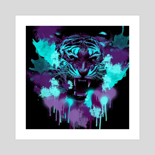 Painted Tiger by Ashley Wann