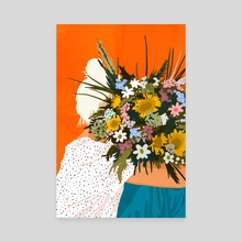 Happiness Is To Hold Flowers In Both Hands - Canvas by 83 Oranges