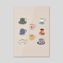 tea cups - Acrylic by George Bartlam