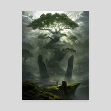 Solitude - Canvas by Piotr Dura
