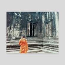 Monk @ Angkor Wat - Canvas by Jade Miller