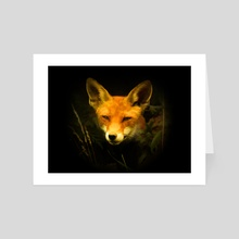 Curious fox. - Art Card by Gvardian Gyula