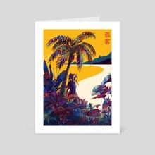 Tropical beach - Art Card by Iroiise