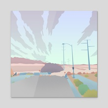 End of the Road Las Vegas 03 - Acrylic by Tim Scott
