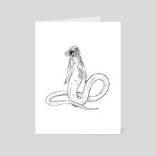 B&W mermay - 16 - Art Card by Juliette Cousin