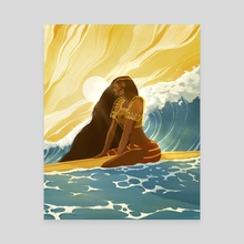 Surfer Girl Calm // Filipiniana - Canvas by Sam Sum